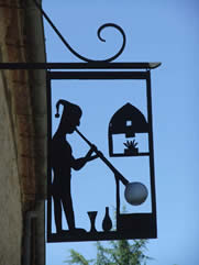 Limeuil France Glass Blowers Sign